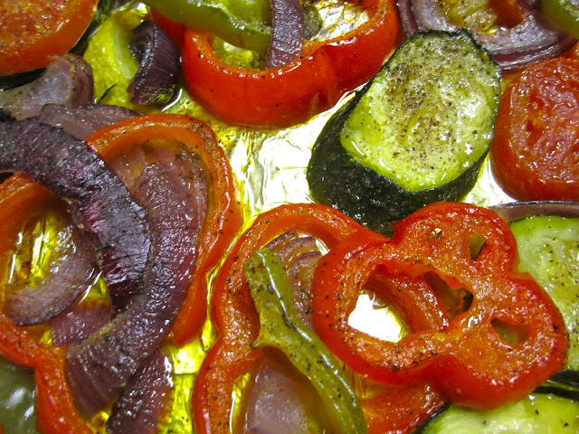 roasted veggie closeup