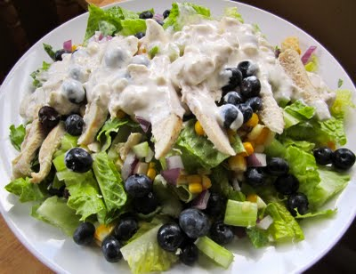 Grilled Chicken Salad with Feta, Fresh Corn, and Blueberries - Daily ...
