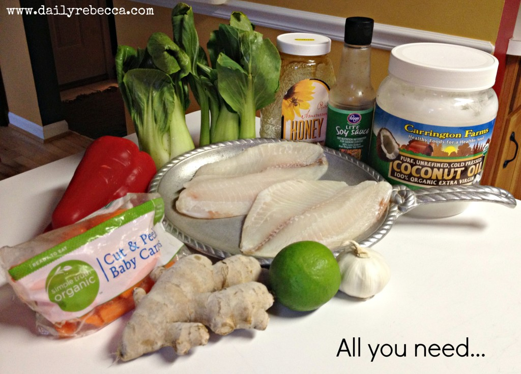 Ginger Garlic Tilapia Ingredients