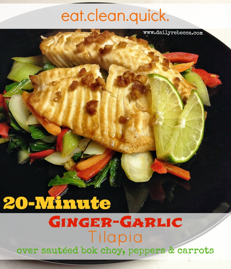 Ginger garlic tilapia