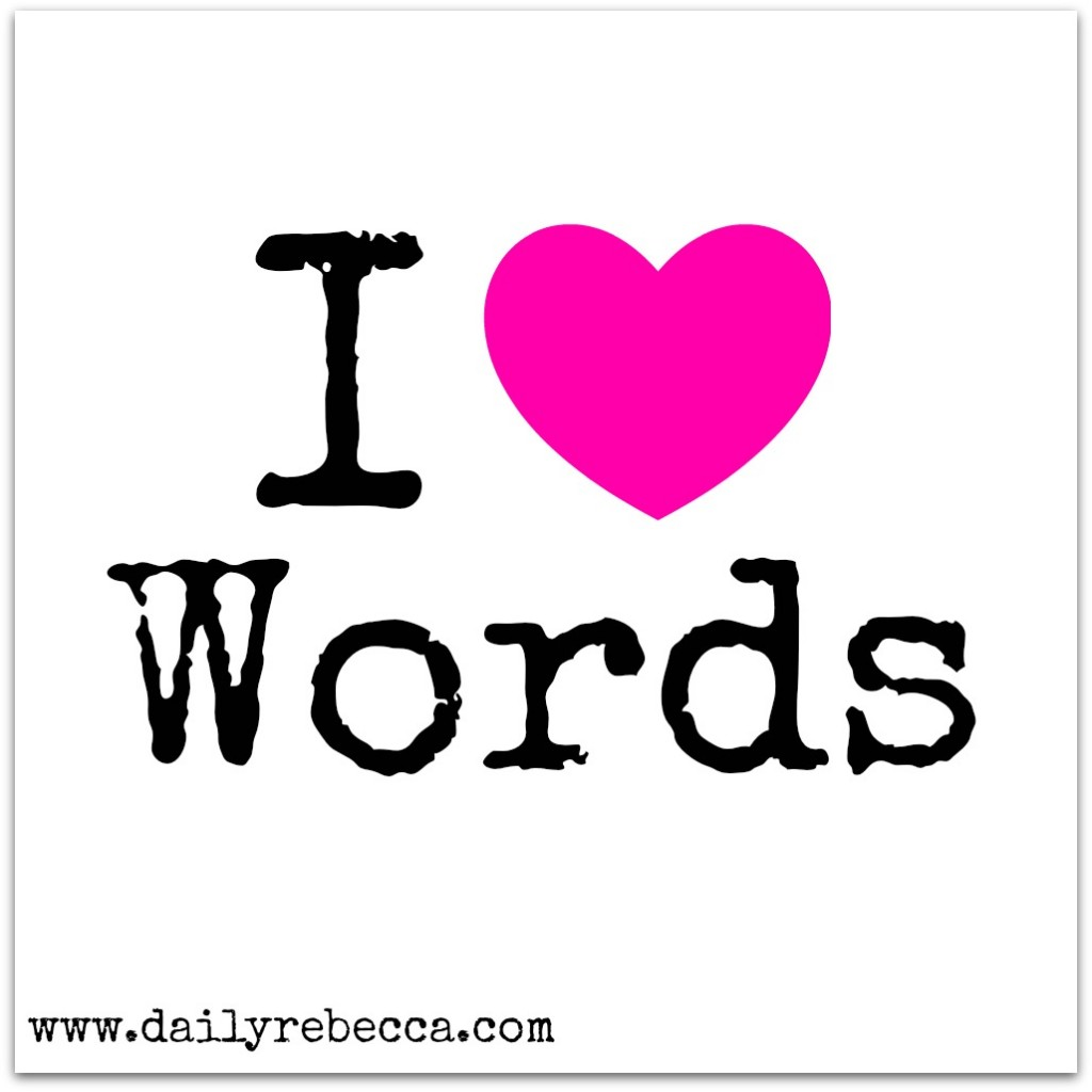 i heart words