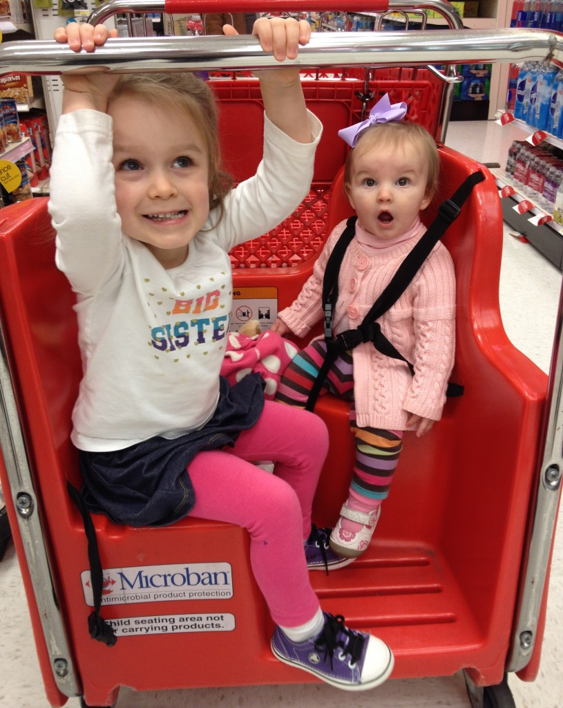 "Mom let us get the ""fun cart"" at Target"