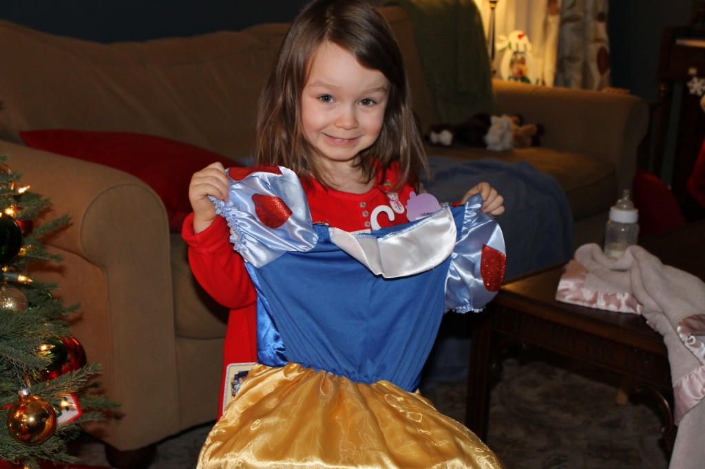 grace with snow white dress