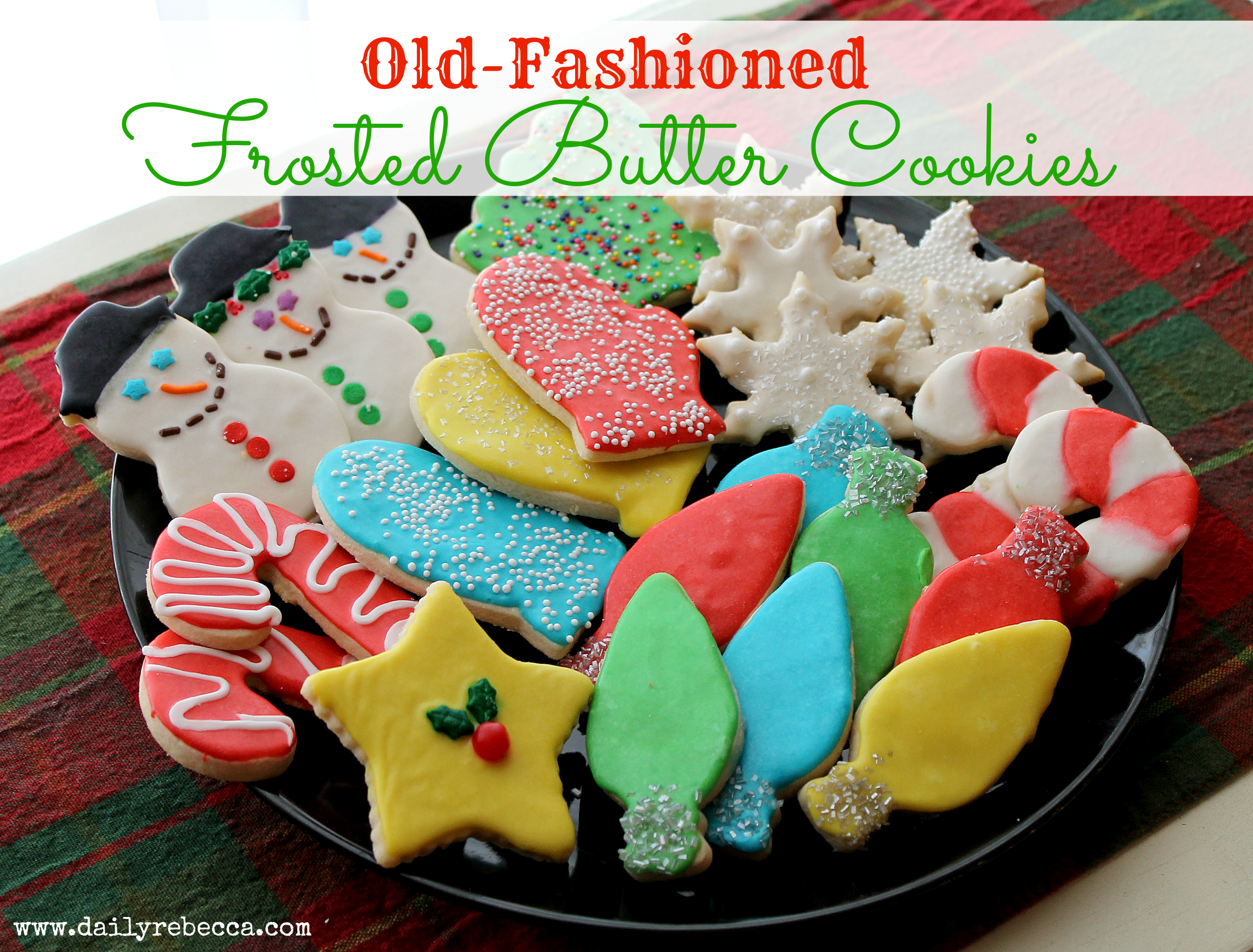 old fashioned frosted butter cookies
