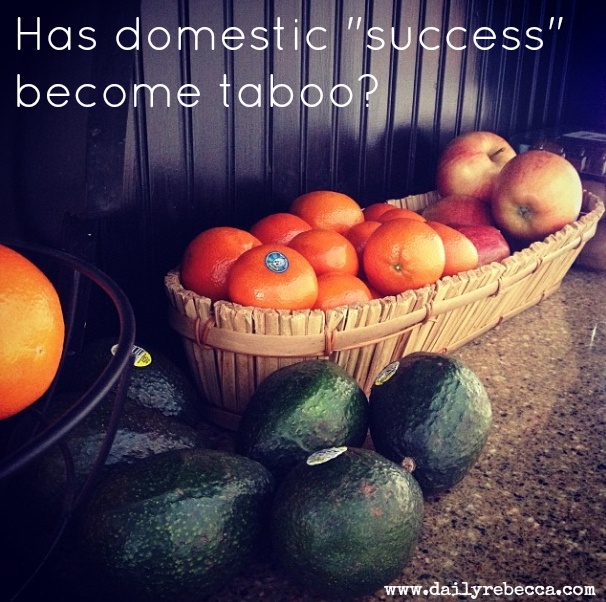 has domestic success become taboo