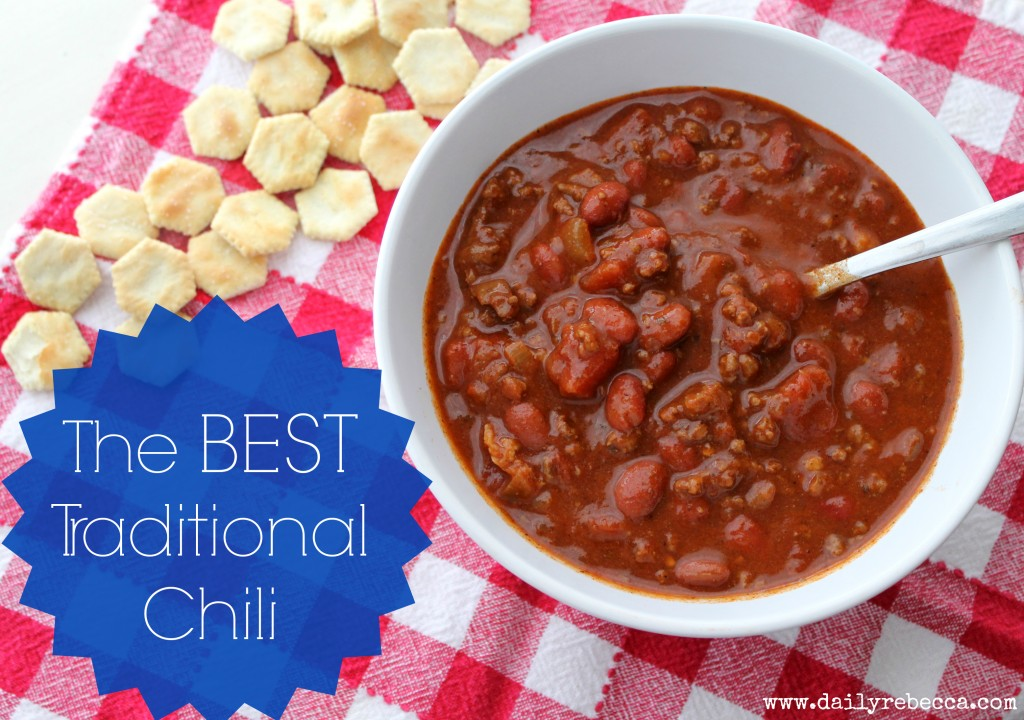 ... it's a bold claim…to be the best traditional chili, but in