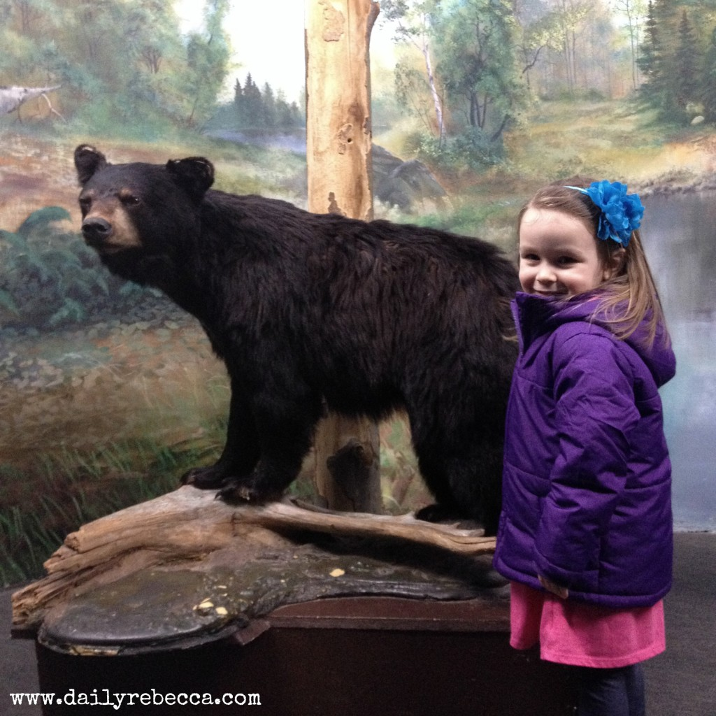grace with bear