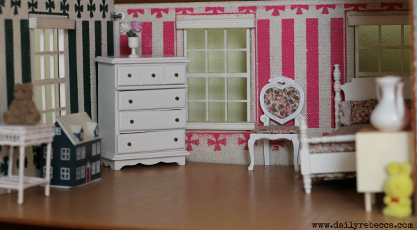 Gaudy Pink Walls And Pretty White Furniture Are Right Up Her Alley. The  Tiny Dollhouse Is One Of Her Favorite Things :)