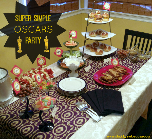 super simple oscars party