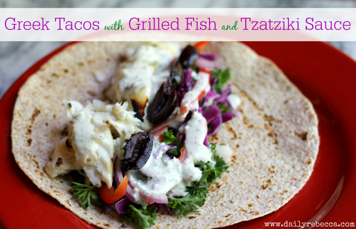 Greek Fish Tacos
