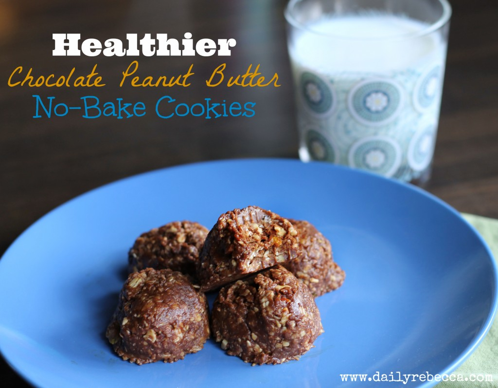 Healthier Chocolate Peanut Butter No Bake Cookies
