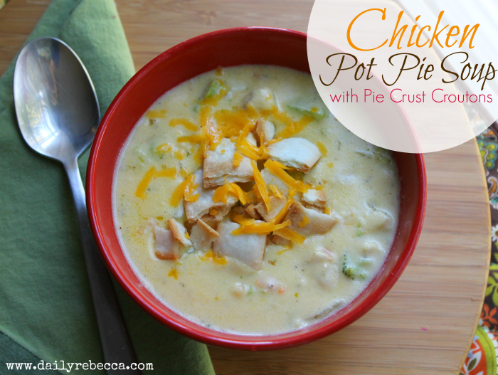 chicken pot pie soup with pie crust croutons
