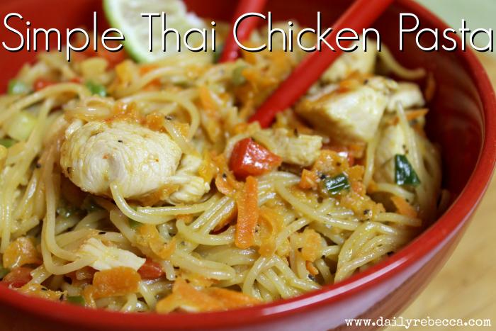 simple thai chicken pasta