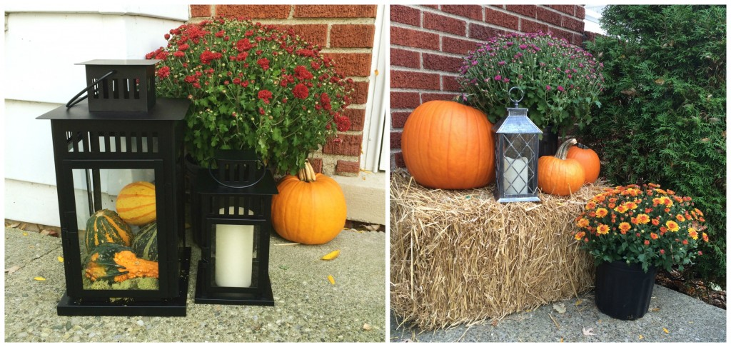 fall porch collage