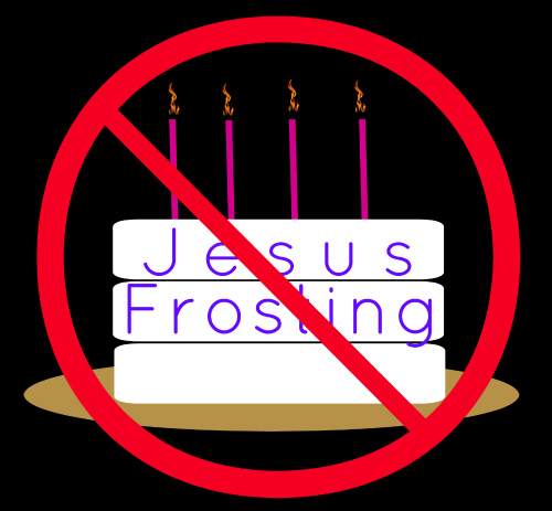 no jesus frosting