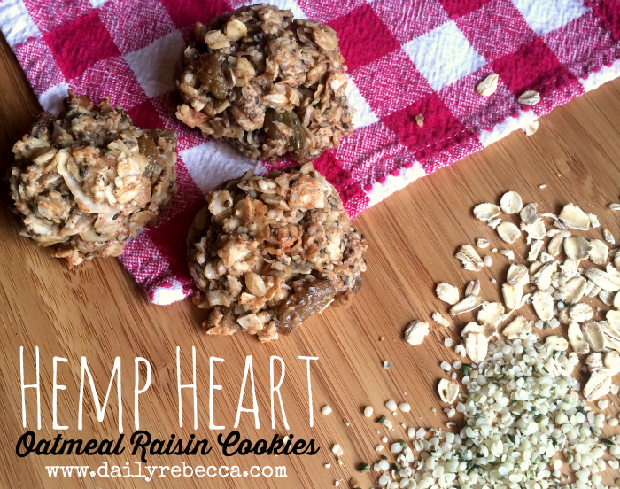 hemp heart oatmeal raisin cookies