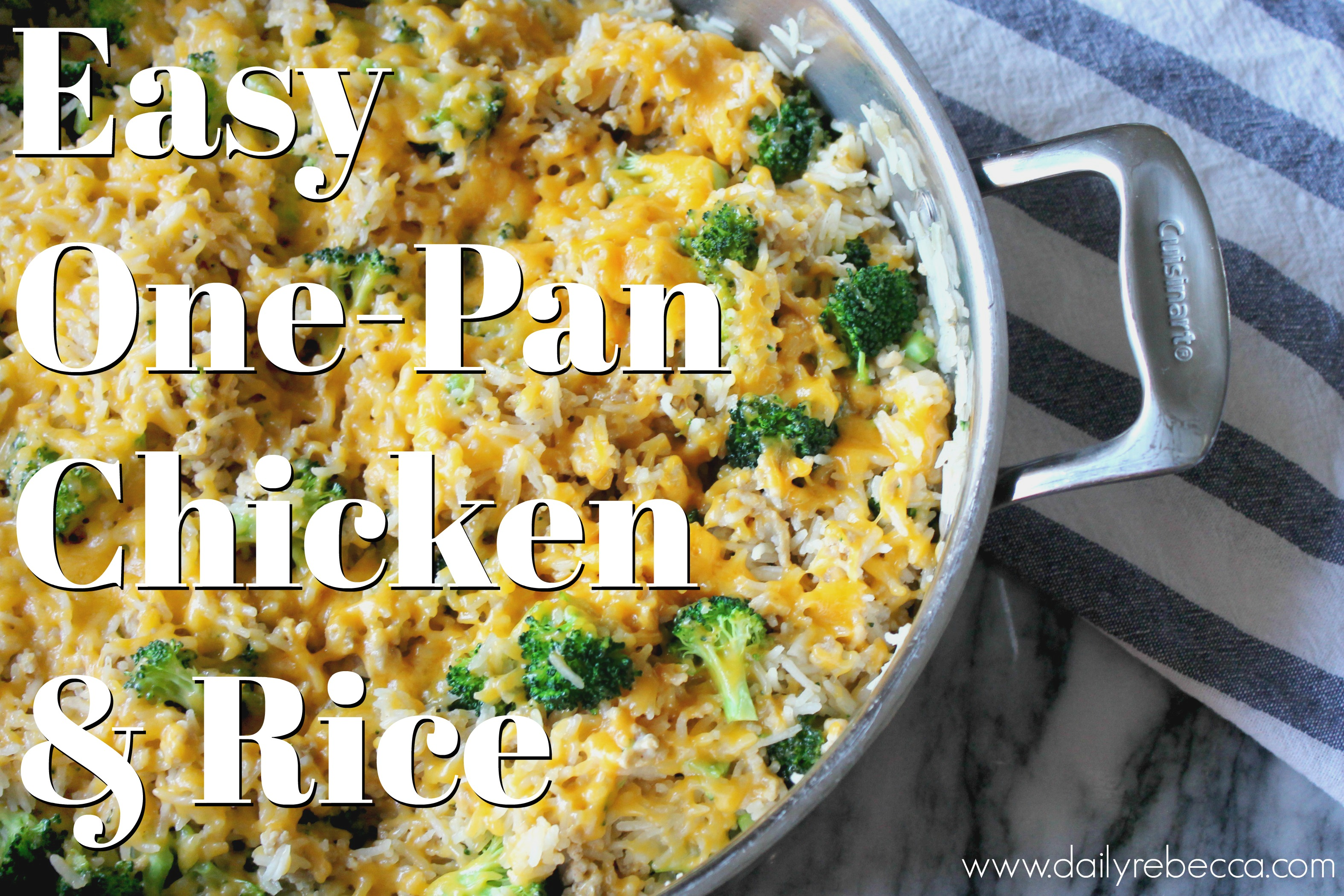Easy One Pan Chicken & Rice
