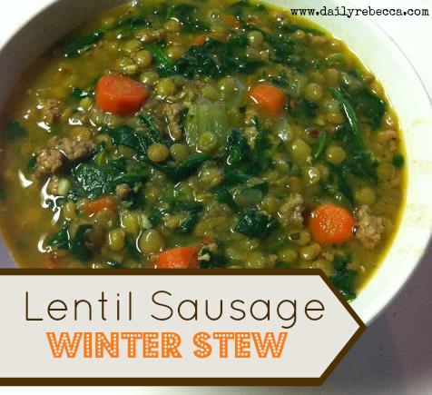 lentil sausage stew