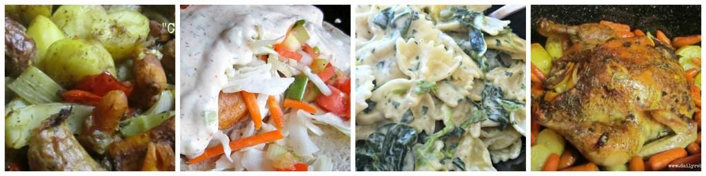 main dish collage