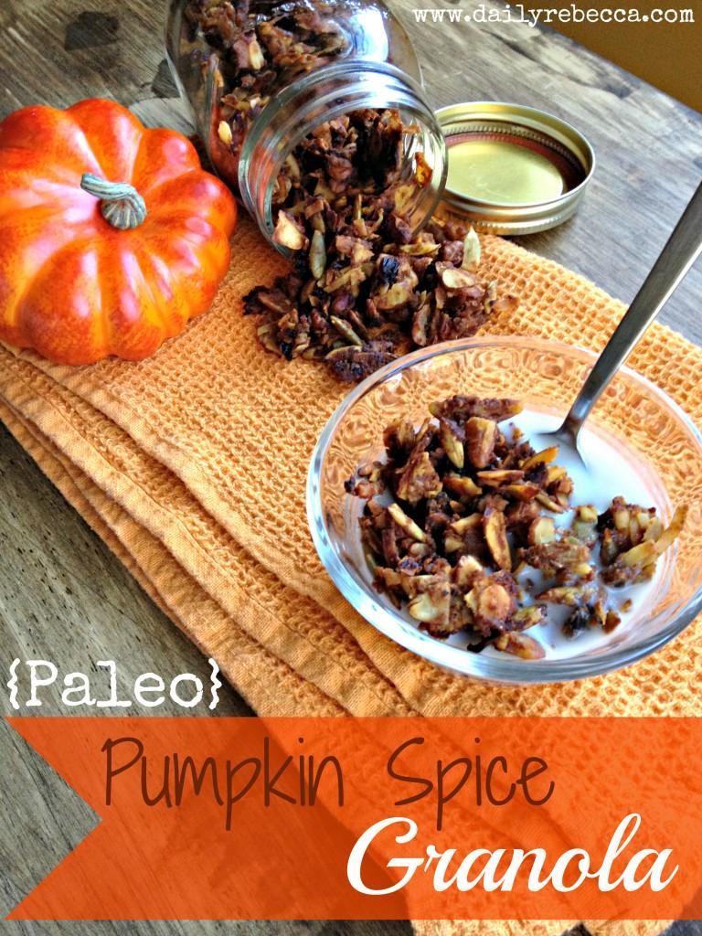 paleo pumpkin spice granola