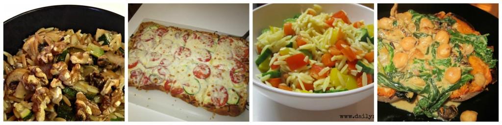 vegetarian collage