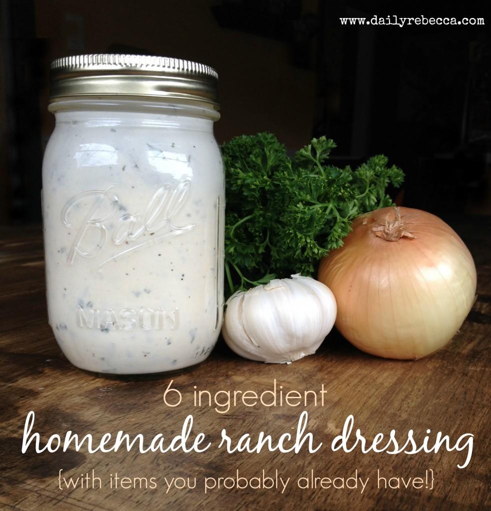 6 ingredient homemade ranch dressing 3
