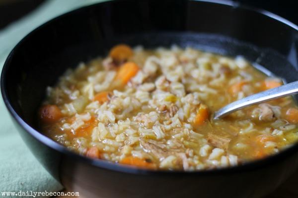 leftover soup closeup