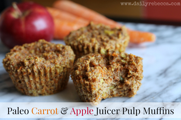 paleo carrot apple juicer pulp muffins