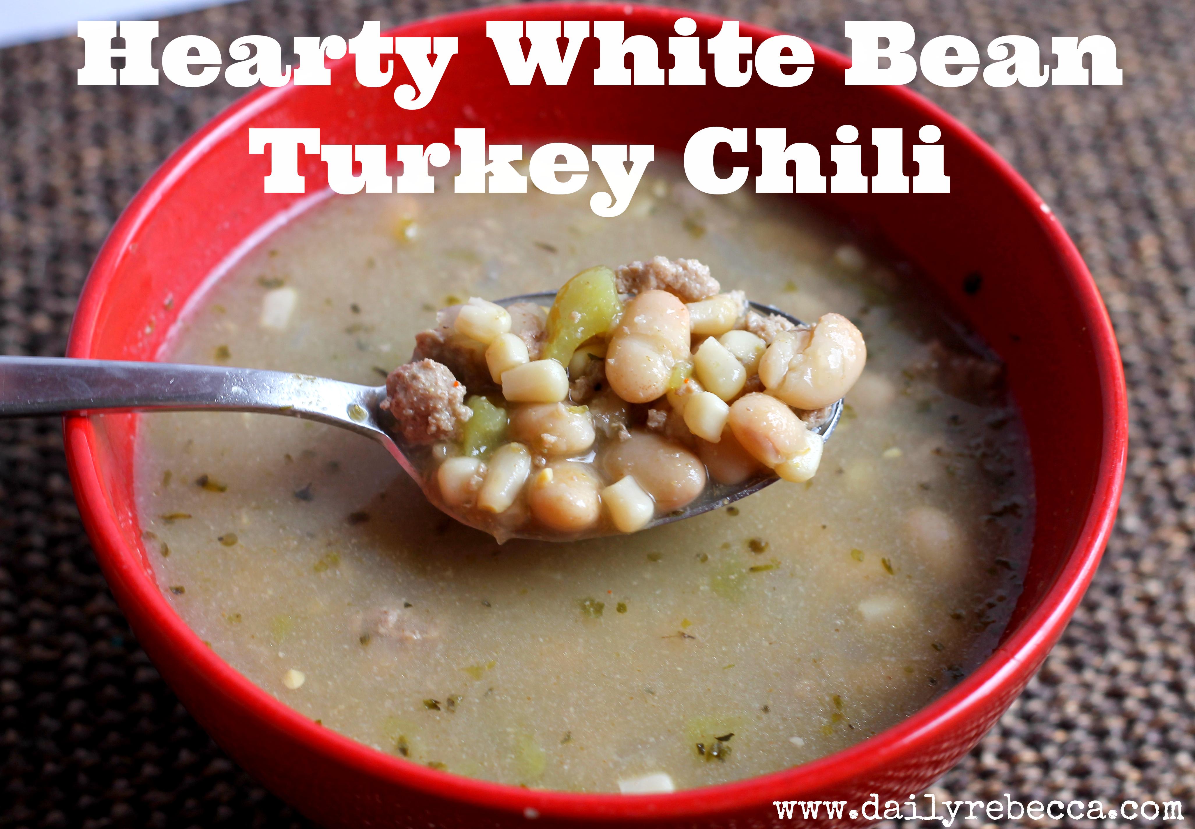 hearty white bean turkey chili